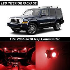 2006-2010 Jeep Commander Red Interior LED Lights Package Kit