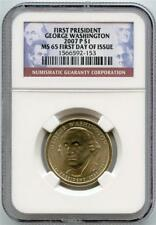2007 P FIRST PRESIDENT GEORGE WASHINGTON $1 FIRST DAY OF ISSUE NGC GRADED MS65