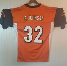 RUDI JOHNSON #32 CINCINNATI BENGALS Jersey Reebok SZ Large NFL Orange (33)