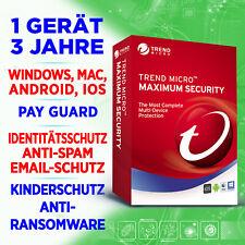Trend Micro Maximum Security 2021 1 Gerät 3 Jahre, EU Produkt Key