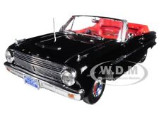 1963 FORD FALCON OPEN CONVERTIBLE BLACK 1/18 DIECAST MODEL CAR BY SUNSTAR 4533