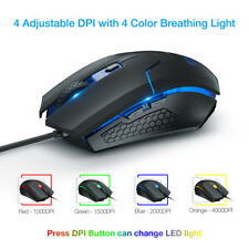 26ca95db7d8 4000DPI LED Optical USB Wired Gaming Mouse 6Button Gamer Laptop PC Computer  Mice