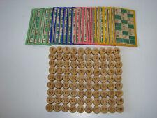 Ancien jeu du loto complet pions en buis