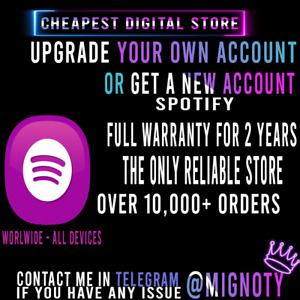 Spotify🎶Premium 2 Years No Limits🎶Worldwide🎶All devices🎵