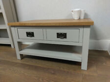 Dorset Grey Painted Coffee Table / Living Room Drinks Unit  / Double Drawers