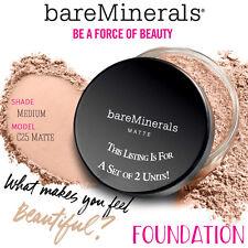 2x Bare Escentuals MEDIUM Matte Bare Minerals Foundation 6g C25 XL SPF 15 SALE