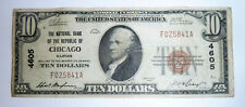 National Banknote Currency Series 1929 CHICAGO Illinois NB Republic #4605 $10