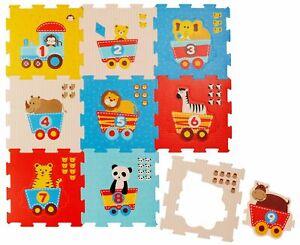 Puzzlematte 19 tlg. Spielmatte Baby XXL Puzzle Kinder Krabbeldecke Turnmatte