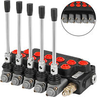5 Spool Hydraulic Directional Control Valve 11GPM Cylinder Spool 4300Psi 40l/min