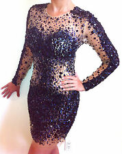 171300 Jovani Black Long Sleeve Party Evening Formal Prom Gown Dress Size USA 0