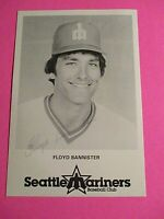 Floyd Bannister Seattle Mariners Signed AUTOGRAPH AUTO Photograph