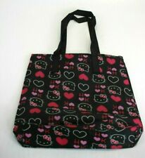 "Hello Kitty Sanrio Reuseable Shopping Pink Tote with Heart 13""x14"""