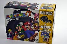 Nintendo GameCube Jet Black Console Mario Party 7 Bonus Set Brand New In Box