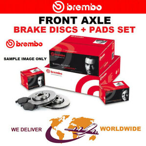 BREMBO Front Axle BRAKE DISCS + PADS SET for PEUGEOT 407 Coupe 2.0 HDi 2009->on