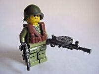 Lego Custom SOVIET INFANTRY Minifigure WWII Soldier W/ Guns & Accessories