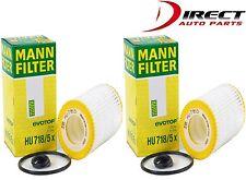 2 OEM GENUINE FLEECE OIL FILTER HU 718/5x MANN FILTER MERCEDES-BENZ 0001802609