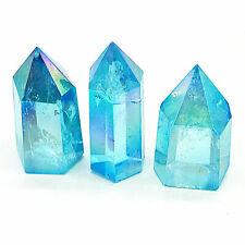 Aqua Aura Kristall Spitze ca. 5 - 7 cm mit Standfläche