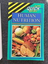 Cliffs Quick Review Human Nutrition Book PB by Bernard A. Marcus PHD Free Ship