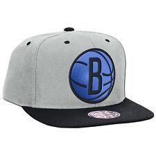 Original Mitchell & Ness Brooklyn Nets Snapback Cap NBA Reflective XL Logo
