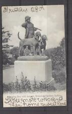 NEW SOUTH WALES, 1906 ppc. Hunting Boy with Hounds Statue, WARATAH to Kensington