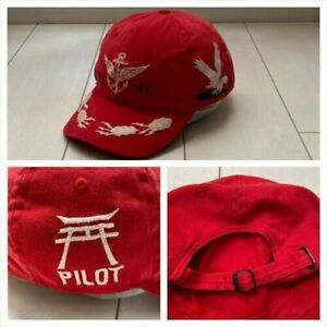 Polo Ralph Lauren Military Cap Hat Red Free Size Japan Import 90s Vintage