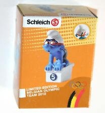 Schleich - Swimmer Smurf BELGIAN OLYMPIC TEAM 2012 *New* Boxed (Promo)