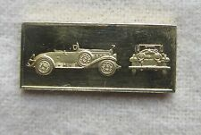 Gold Over Silver Bar / Ingot 1930 Cadillac V-16 Worlds Great Performance Car