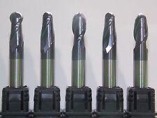 6MM (R3) X 50MM 2-FLUTE HRC45 CUTTING AlTiN/TiAIN CARBIDE BALL ENDMILL 5x