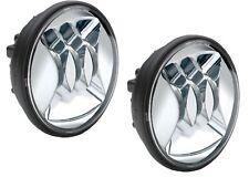 """JW Speaker Harley Davidson 4.5"""" LED Chrome Fog Lights Pair Assembly"""