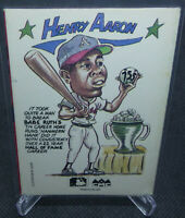 1990 MLB Collect-A-Books Hank Aaron Book Card ATLANTA BRAVES