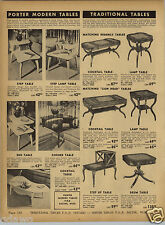 1952 PAPER AD Porter Mid Century Modern Cocktail Table End Step Style