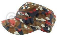 Mens Womens Military Hat Camo Camping Hats Sun Sports Outdoor Army Cadet Hat