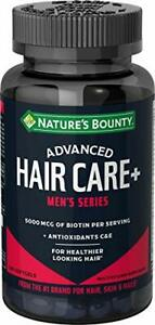 Biotin by Nature's Bounty, Advanced Hair Care, Men's Series, with Antioxidants