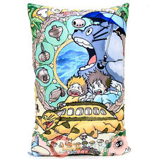 "My Neighbor Totoro Pillow Cushion with Cat Bus Silk Printing 22"" x15"" Bedding"