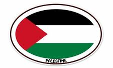 "Palestine Flag Oval car window bumper sticker decal 5"" x 3"""