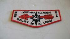LOWANEU ALLANQUE OA LODGE 41 FLAP 2002 QUALITY LODGE