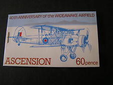 ASCENSION IS. SCOTT # 309+310(BLOCKS OF 4 EACH) BOOKLET ANNIV. WIDEAWAKE MNH