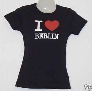Girlie T-Shirt * I Love Berlin Schwarz S - XXL
