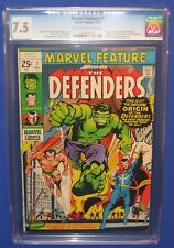 Marvel Feature #1 Comic Book CGC 7.5 VF The Defenders 1st Appearance 1971 Hulk