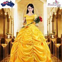 Beauty & The Beast Belle Adult Long Fancy Dress Gown Costume