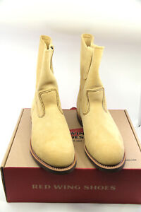 Red Wing Pecos Suede 1188 Pull On Boots Size 9.5 EEE