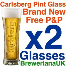 Set Of 2 Carlsberg Reward Pint 20oz Glasses Brand New 100% Genuine Official