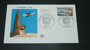 ENVELOPPE 1er JOUR 06-05 1967 FRANCE AVIATION NUNGESSER COLI OISEAU BLANC