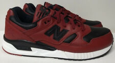 New Balance 530 Size 12 Burgundy Red Black Leather Mens Shoe Sneaker M530VTB