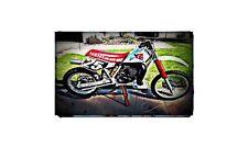 1990 yz490 Bike Motorcycle A4 Retro Metal Sign Aluminium