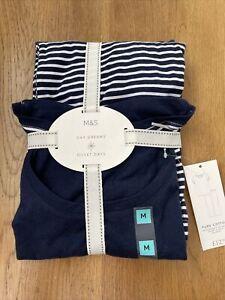 marks and spencer Cotton pyjamas Size M Bnwt 2 Piece Set