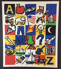 Tom Slaughter ALPHABET Screen Print Signed Numbered 26/100 Pop Art 1992 Limited