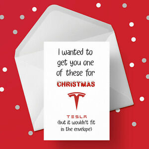 Funny Christmas Card with Tesla - Free 1st class postage