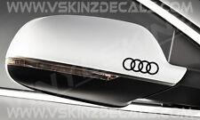Audi Anelli Premium Specchietto Decalcomanie Adesivi TT RS S-line Quattro A4 A3