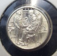 Franklin Mint Sterling SILVER Mini-Ingot: 1818 OREGON TERRITORY Boundary